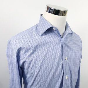 David Donahue Mens 16 34/35 Trim Fit Dress Shirt